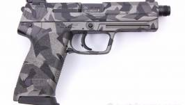 Heckler & Koch USP Tactical, Splinter Camo in .45 ACP